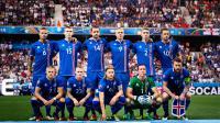Les titulaires islandais face à l'Angleterre, en huitièmes de finale de l'Euro 2016.