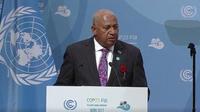 Frank Bainimarama, Premier ministre des Fidji, préside la COP23.