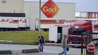 L'abattoir Gad à Josselin (Morbihan).