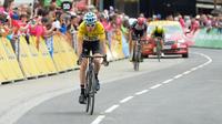 Geraint Thomas avait terminé à la 2e place, derrière Peyo Bilbao, de la 6e étape du Critérium du Dauphiné en juin dernier.