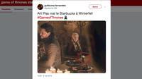 Les internautes ont vivement réagi à la présence d'un café Starbucks devant Daenerys.
