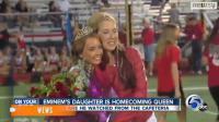 Hailie, la fille du rappeur Eminem, couronnée reine du bal de son lycée le 4 octobre 2013 (capture d'écran YouTube)