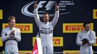 Lewis Hamilton occupe la tête du championnat du monde avec trois poins d'avance sur Nico Rosberg.