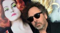 Tim Burton et son égérie de fiancée Helena Bonham Carter  à l'occasion de la sortie du film Dark Shadows (2012)