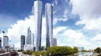Le projet Hermitage Plaza prévoit deux tours culminant à 320 mètres de hauteur.