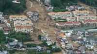 Les glissements de terrains ont été provoqués par les pluies tombées à Hiroshima ces derniers jours.