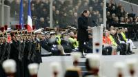 François Hollande pendant la cérémonie d'hommage aux victimes des attentats du 13 Novembre aux Invalides