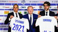 Sylvinho, Jean-Michel Aulas et Juninho espèrent que les Bleus s'imposeront face aux Gunners.