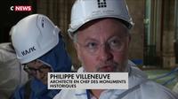 Trois mois après l'incendie, Franck Riester a visité Notre-Dame