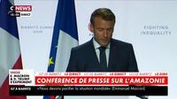 Emmanuel Macron:«Nous offrirons aux pays amazoniens un soutien d'au moins 20 millions d'euros»