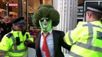 Londres: Arrestation d'un militant pour le climat déguisé en brocoli