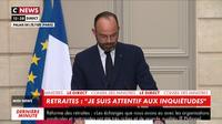 Edouard Philippe : «Nous ne transigerons pas sur l'objectif de cette réforme des retraites»