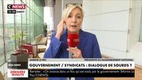 Marine Le Pen : «Ce serait démocratique que tous les Français puissent s'exprimer sur cette réforme»