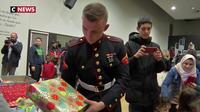 Seine-Saint-Denis : des cadeaux de Noël distribués par des Marines américains aux enfants de Stains