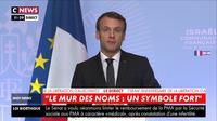 Emmanuel Macron réaffirme l'importance de la lutte contre l'antisémitisme