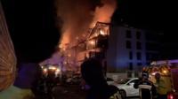 L'immeuble, qui comptait 42 appartements avenue de Verdun, a été entièrement ravagé par les flammes.
