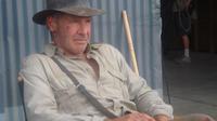 Harrison Ford sur le tournage d'Indiana Jones 4