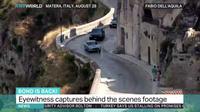 Un témoin de la scène a saisi, dans les rues de Matera, en Italie, une poursuite en voiture tirée de ce nouveau James Bond, «No Time To Die».