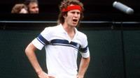 Le joueur de tennis américain John McEnroe était un habitué des coups de sang sur le terrain.