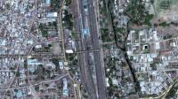 La ville de Khandwa sur le logiciel Google Map