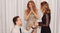 A Las Vegas, Nick a surpris tout le monde, en faisant sa demande en mariage devant Céline Dion.