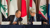 Le Russe Serguei Lavrov et l'Américain John Kerry, le 22 septembre 2016 à New York.
