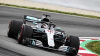 Lewis Hamilton a réalisé un cavalier seul en Espagne.
