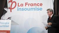 Le leader des Insoumis, Jean-Luc Mélenchon, dimanche soir, à l'annonce des résultats des européennes.