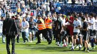 La rencontre entre Bastia et Lyon a dû être interrompu en raison de l'irruption de supporters bastiais sur le terrain.