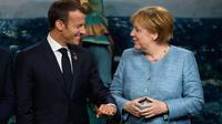 Emmanuel Macron et Angela Merkel au G7 de la Malbaie, au Canada, le 9 juin 2018.