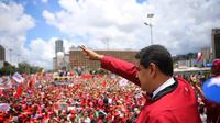 Le président vénézuélien Nicolas Maduro devant ses partisans à Caracas, le 1er septembre.