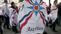 Manifestation de la communauté assyro-chaldéenne des chrétiens d'Irak devant l'Assemblée nationale le 8 juillet 2014 pour attirer l'attention sur le sort de leurs proches en danger dans le nord de l'Irak [Jacques Demarthon / AFP/Archives]