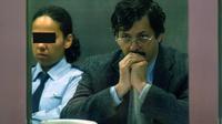 Le 22 juin 2004, le pédophile belge Marc Dutroux est assis sur le banc des accusés du palais de justice d'Arlon, ville du sud-est de la Belgique, pendant la dernière journée de son procès.