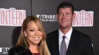 Mariah Carey et James Packer pour leur première sortie officielle à la première du film The Intern en septembre 2015