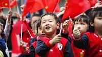 Des élèves d'une maternelle de la ville de Tonglu, dans le sud-est de la Chine, le 29 septembre 2017 (photo d'illustration).