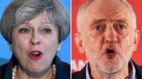 La conservatrice Theresa May et le travailliste Jeremy Corbyn étaient au coude à coude dans les derniers sondages.