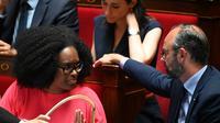 Sibeth Ndiaye et Edouard Philippe à l'Assemblée nationale le 25 juin 2019.