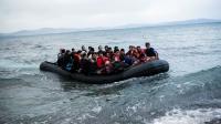 Une embarcation de migrants arrivant en Grèce.