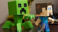 Des jouets tirés de l'univers cubique de Minecraft