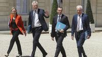 Agnès Pannier-Runacher, Bruno Le Maire, Olivier Dussopt et Alain Griset à l'Elysée.