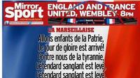 Les paroles de la Marseillaise seront également diffusées sur les écrans de Wembley.