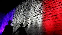 Le Mur des Lamentations aux couleurs de la France.
