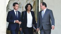 Manuel Valls, Myriam El Khomri et François Hollande, le 2 septembre 2015