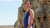 Cette photo prise en avril 2014 montre l'astrophysicienne britannique Natalie Christopher, dont le corps a été retrouvé dans un ravin de l'île grecque d'Ikaria le 7 août 2019, deux jours après sa disparition.