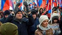 L'opposant russe Alexeï Navalny, lors d'une manifestation à Moscou, le 25 février 2018.