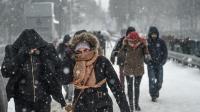 Chutes de neige à Istanbul, Turquie, le 7 janvier 2016.