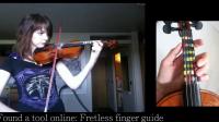 La jeune Norvégienne a appris le violon grâce à des tutoriels sur Internet.