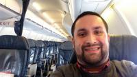 L'un des passagers n'a pas manqué de publier quelques selfies sur Twitter.