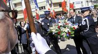 François Hollande le 9 juin 2013 à Tulle pour la commémoration du massacre nazi