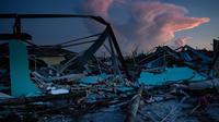Vue des dégâts causés par l'ouragan Dorian le 5 septembre 2019 à Marsh Harbour, Great Abaco, Bahamas.
